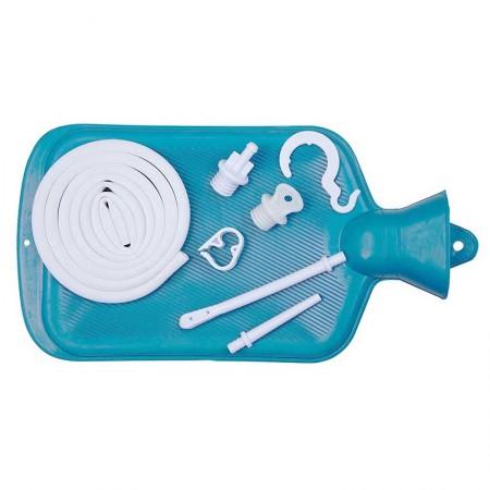 Colon Cleanse Enema Bag Kit Blue Hot Water Bottle 2 Quart