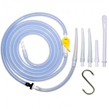Enema Parts Accessories Kit - Hose + Clamp + Nozzle