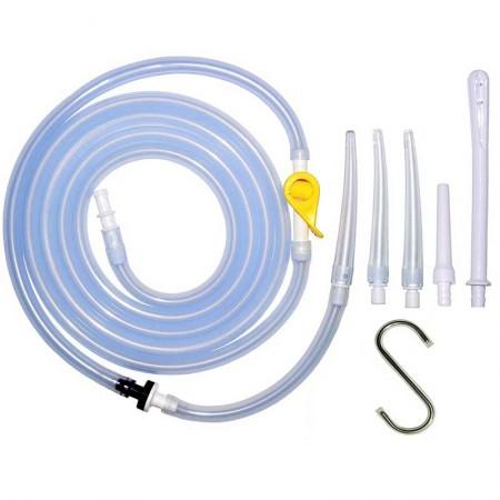 Enema Parts Accessories Kit - Hose + Clamp + Nozzle